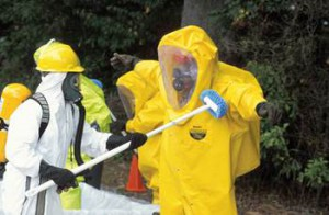 Haz-Mat Decon suits can fail - anthrax vaccine is an important component to provider safety